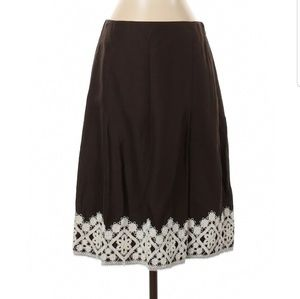 Ann Taylor LOFT Casual Skirt Brown Size 4
